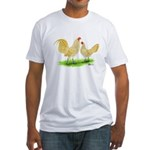 Buff Laced OE Bantams Fitted T-Shirt