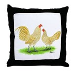 Buff Laced OE Bantams Throw Pillow