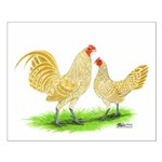 Buff Laced OE Bantams Small Poster