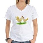 Buff Laced OE Bantams Women's V-Neck T-Shirt
