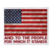 people-stands-LTT Throw Blanket