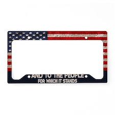people-stands-OV License Plate Holder