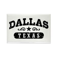 Dallas Texas Rectangle Magnet