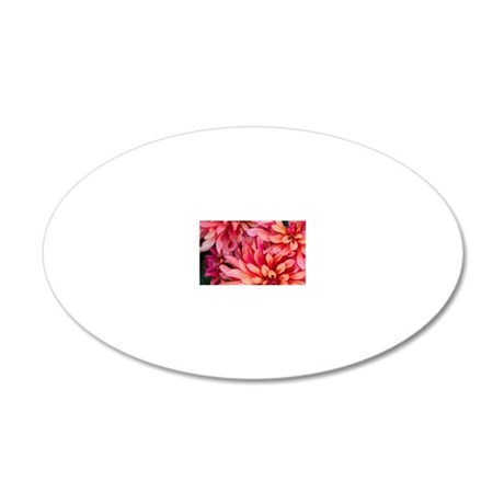 Bright colorful flowers at t 20x12 Oval Wall Decal