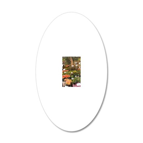 A colorful variety of flower 20x12 Oval Wall Decal