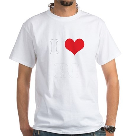 I Heart RI White T-Shirt