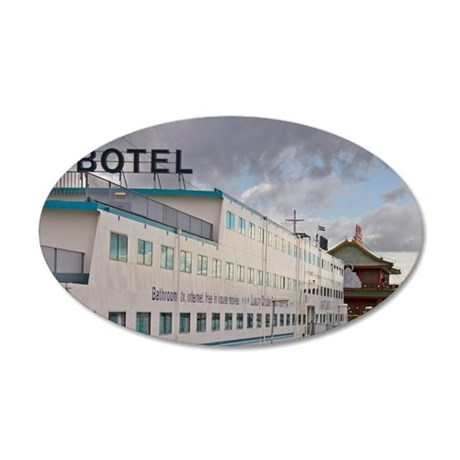 Amstel Botel a floating hote 35x21 Oval Wall Decal