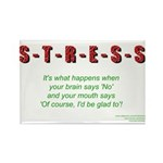 Stress Rectangle Magnet (100 pack)