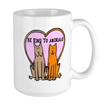 Be Kind To Animals Large Mug