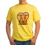 Be Kind To Animals Yellow T-Shirt