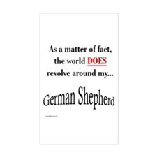 German Shepherd World Rectangle Decal