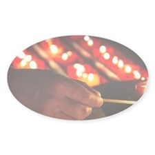 Portugal, Lisbon. Lighting candles  Decal