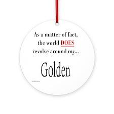 Golden World Ornament (Round)