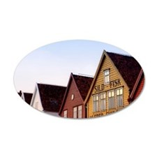 Historic Bryggen Wall Decal