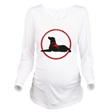 therapydogteamwhite Long Sleeve Maternity T-Shirt