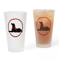 therapydogteamwhite Drinking Glass
