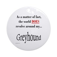 Greyhound World Ornament (Round)