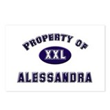 Property of alessandra Postcards (Package of 8)