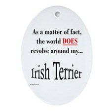 Irish Terrier World Oval Ornament