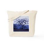 Blue Tree & Mountains Tote Bag