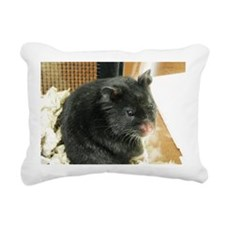 Black Hamster Rectangular Canvas Pillow