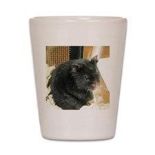 Black Hamster Shot Glass