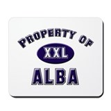 Property of alba Mousepad