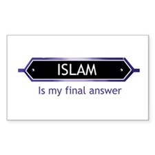 Islam: Final answer Rectangle Decal