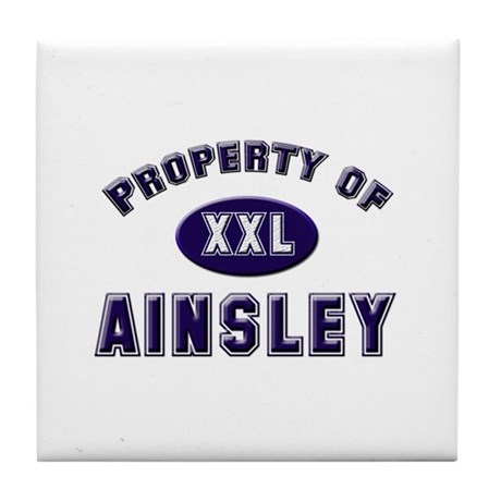 Property of ainsley Tile Coaster