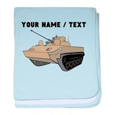 Custom Army Tank baby blanket
