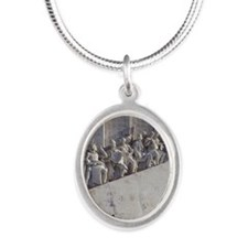 Built in 1960 for 500th anniv Silver Oval Necklace