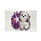 Shih Tzu Star Rectangle Magnet