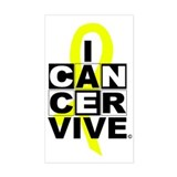 Bone Cancer Rectangle Decal