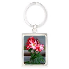 Fourth of July climbing rose Portrait Keychain