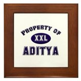 Property of aditya Framed Tile