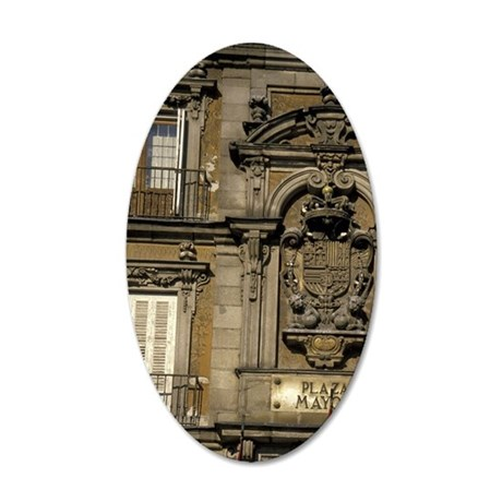 Europe, Spain, Madrid Plaza  35x21 Oval Wall Decal