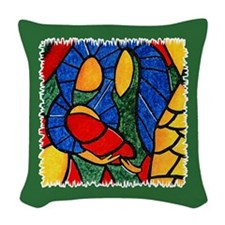 Abstract Nativity Colorful Christmas Throw Pillow