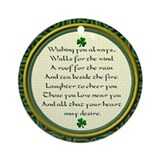 Irish Blessing Shamrock Ornament (Round)