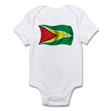 Wavy Guyana Flag Infant Bodysuit