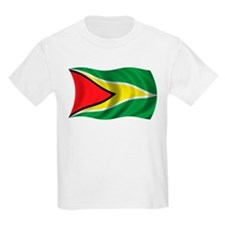 Wavy Guyana Flag Kids T-Shirt