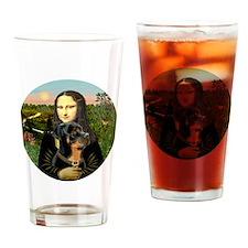 J-Mona-Rottweiler5 Drinking Glass