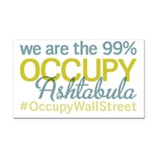 Occupy Ashtabula Rectangle Car Magnet