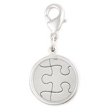 puzzleofapuzzle Silver Round Charm
