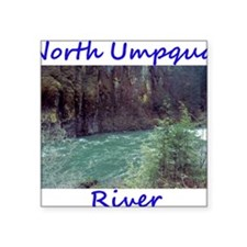 "North Umpqua River5layer3 Square Sticker 3"" x 3"""