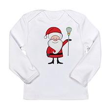 Lacrosse Santa Personalized Long Sleeve Infant T-S