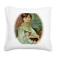 Julie Manet by Renoir Square Canvas Pillow