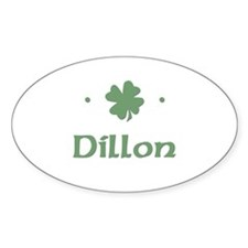 """Shamrock - Dillon"" Oval Decal"