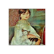 "Julie Manet by Renoir Square Sticker 3"" x 3"""