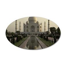 Taj Mahal 35x21 Oval Wall Decal