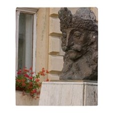Statue of Vlad Tepes ( Vlad The Impe Throw Blanket